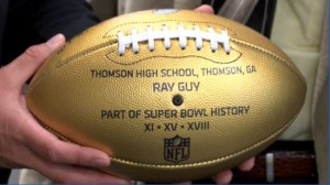 Ray Guy Gold Football