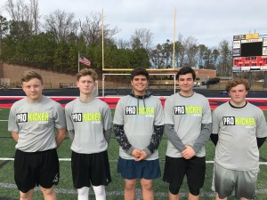 Ray Guy Prokicker.com Winter Camp 2016 Winners